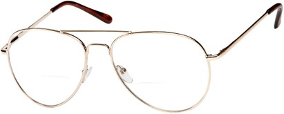 Angle of The Wharton Bifocal in Gold, Women's and Men's