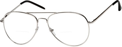 Angle of The Wharton Bifocal in Silver, Women's and Men's