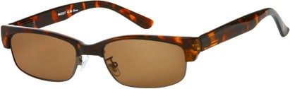 Angle of The Oceanside Reading Sunglasses in Brown Tortoise with Amber Lenses, Women's and Men's