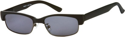 Angle of The Oceanside Reading Sunglasses in Matte Black with Smoke Lenses, Women's and Men's