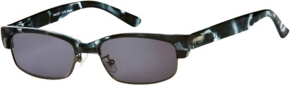 Angle of The Oceanside Reading Sunglasses in Grey Tortoise with Smoke Lenses, Women's and Men's