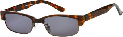 Angle of The Oceanside Reading Sunglasses in Brown Tortoise with Smoke Lenses, Women's and Men's