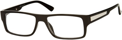 Angle of The Brandon in Black, Women's and Men's Rectangle Reading Glasses