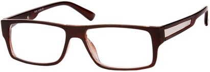 Angle of The Brandon in Brown, Women's and Men's Rectangle Reading Glasses