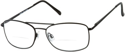 Angle of The Mark Bifocal in Black, Women's and Men's Aviator Reading Glasses