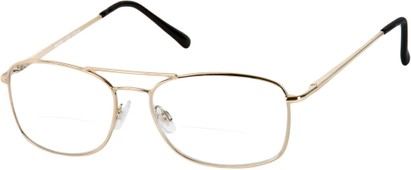 Angle of The Mark Bifocal in Gold, Women's and Men's Aviator Reading Glasses