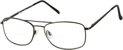 Angle of The Mark Bifocal in Grey, Women's and Men's Aviator Reading Glasses