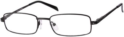 Angle of The Percy in Black, Women's and Men's Rectangle Reading Glasses