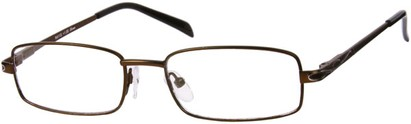 Angle of The Percy in Bronze, Women's and Men's Rectangle Reading Glasses