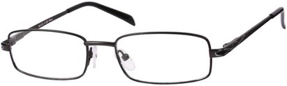 Angle of The Percy in Grey, Women's and Men's Rectangle Reading Glasses