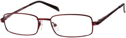 Angle of The Percy in Red, Women's and Men's Rectangle Reading Glasses