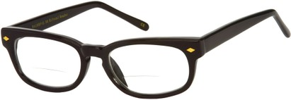Angle of The Britton Bifocal in Black, Women's and Men's Retro Square Reading Glasses