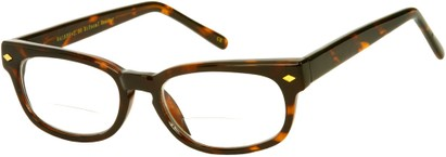 Angle of The Britton Bifocal in Brown Tortoise, Women's and Men's Retro Square Reading Glasses