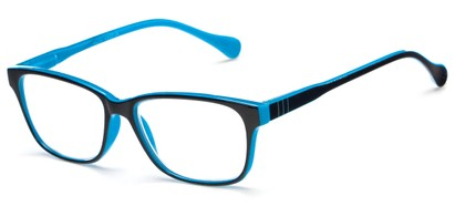 Angle of The Highlight in Black/Blue, Women's and Men's Square Reading Glasses