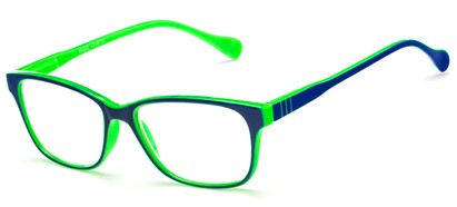 Angle of The Highlight in Blue/Green, Women's and Men's Square Reading Glasses