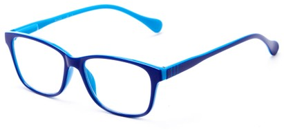 Angle of The Highlight in Navy/Blue, Women's and Men's Square Reading Glasses