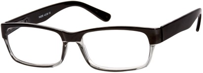 Angle of The Montgomery in Black/Grey, Women's and Men's Rectangle Reading Glasses