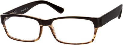 Angle of The Montgomery in Black/Brown Tortoise, Women's and Men's Rectangle Reading Glasses