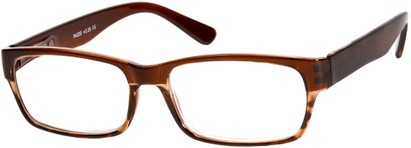 Angle of The Montgomery in Brown/Tortoise, Women's and Men's Rectangle Reading Glasses