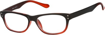 Angle of The Dodge in Black/Red, Women's and Men's Retro Square Reading Glasses