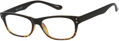 Angle of The Dodge in Black/Brown Tortoise, Women's and Men's Retro Square Reading Glasses