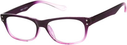 Angle of The Dodge in Purple/Pink, Women's and Men's Retro Square Reading Glasses