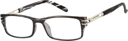 Angle of The Clancy in Black Stripes, Men's Rectangle Reading Glasses