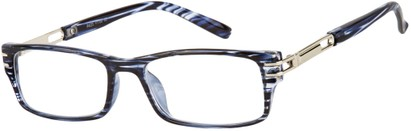 Angle of The Clancy in Blue Stripes, Men's Rectangle Reading Glasses