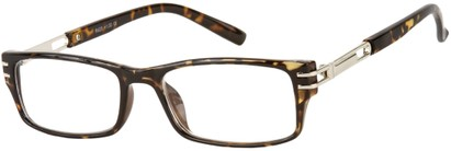 Angle of The Clancy in Brown Tortoise, Men's Rectangle Reading Glasses