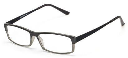 Angle of The Drew in Black/Grey, Women's and Men's Rectangle Reading Glasses