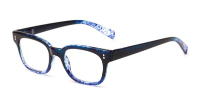 Angle of The Antique in Blue, Women's and Men's Retro Square Reading Glasses