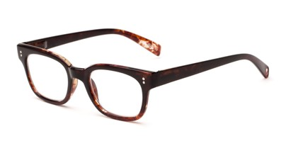 Angle of The Antique in Brown, Women's and Men's Retro Square Reading Glasses