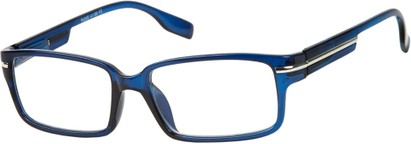 Angle of The General in Blue, Men's Square Reading Glasses