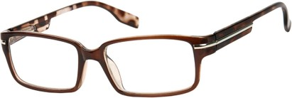 Angle of The General in Brown, Men's Square Reading Glasses