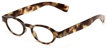Angle of The Raleigh in Brown Tortoise, Women's and Men's Round Reading Glasses