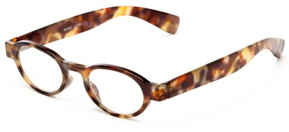 Angle of The Raleigh in Brown/Red Tortoise, Women's and Men's Round Reading Glasses