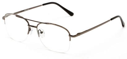 Angle of The Greenville in Grey, Men's Aviator Reading Glasses