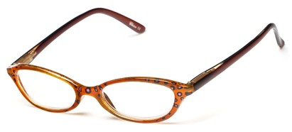 Angle of The Abigail in Brown/Dark Brown, Women's Cat Eye Reading Glasses