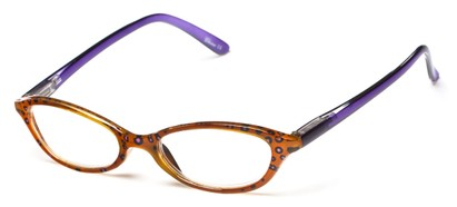 Angle of The Abigail in Brown/Purple, Women's Cat Eye Reading Glasses
