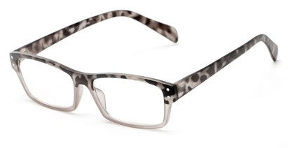 Angle of The Roman in Grey/Grey Tortoise, Women's and Men's Rectangle Reading Glasses