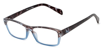 Angle of The Roman in Blue/Brown Tortoise, Women's and Men's Rectangle Reading Glasses