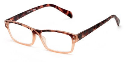 Angle of The Roman in Orange/Brown Tortoise, Women's and Men's Rectangle Reading Glasses