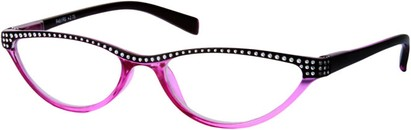 Angle of The Farrah in Pink/Black, Women's Cat Eye Reading Glasses