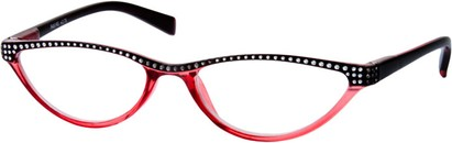 Angle of The Farrah in Red/Black, Women's Cat Eye Reading Glasses