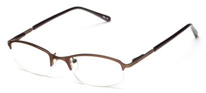 Angle of The Braxton in Matte Bronze, Women's and Men's Rectangle Reading Glasses