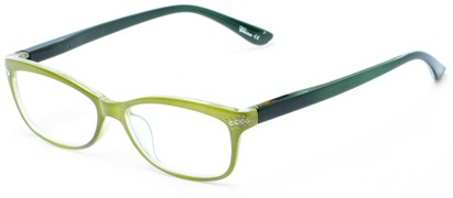 Angle of The Honey in Green/Olive, Women's Rectangle Reading Glasses
