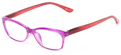 Angle of The Honey in Pink/Coral, Women's Rectangle Reading Glasses