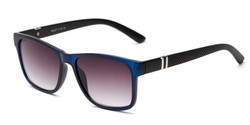 Angle of The Royal Reading Sunglasses in Matte Blue with Smoke, Women's and Men's Retro Square Reading Sunglasses