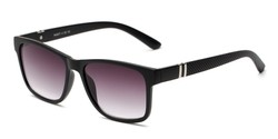 Angle of The Royal Reading Sunglasses in Matte Black with Smoke, Women's and Men's Retro Square Reading Sunglasses