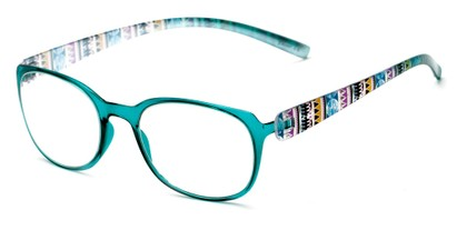 Angle of The Leigh in Blue Multi, Women's Square Reading Glasses